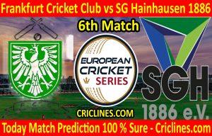 Today Match Prediction-Frankfurt Cricket Club vs SG Hainhausen 1886-ECS T10 Frankfurt Series-6th Match-Who Will Win