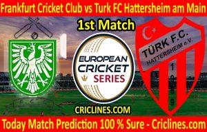 Today Match Prediction-Frankfurt Cricket Club vs Turk FC Hattersheim am Main-ECS T10 Frankfurt Series-1st Match-Who Will Win
