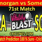 Today Match Prediction-Glamorgan vs Somerset-Vitality T20 Blast 2020-71st Match-Who Will Win