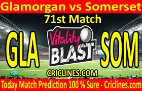 Today Match Prediction-Glamorgan vs Somerset-Vitality T20 Blast 2020-71st Match-Who Will Win