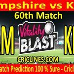 Today Match Prediction-Hampshire vs Kent-Vitality T20 Blast 2020-60th Match-Who Will Win