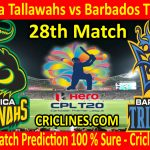 Today Match Prediction-Jamaica Tallawahs vs Barbados Tridents-CPL T20 2020-28th Match-Who Will Win