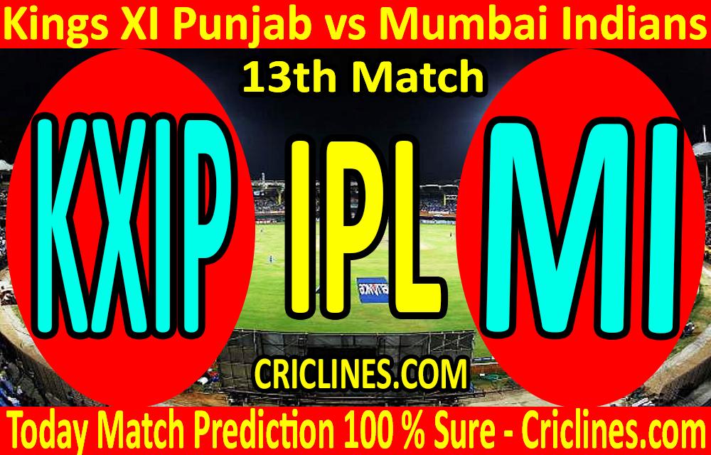 Today Match Prediction-Kings XI Punjab vs Mumbai Indians-IPL T20 2020-13th Match-Who Will Win