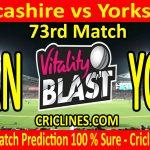 Today Match Prediction-Lancashire vs Yorkshire-Vitality T20 Blast 2020-73rd Match-Who Will Win