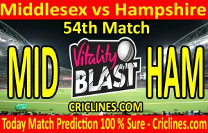Today Match Prediction-Middlesex vs Hampshire-Vitality T20 Blast 2020-54th Match-Who Will Win