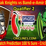 Today Match Prediction-Mis Ainak Knights vs Band-e-Amir Dragons-Shpageeza T20 Cricket League-Qualifier 2-Who Will Win