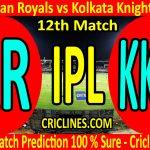 Today Match Prediction-Rajasthan Royals vs Kolkata Knight Riders-IPL T20 2020-12th Match-Who Will Win