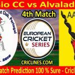 Today Match Prediction-Rossio CC vs Alvalade CC-ECS T10 Cartaxo Series-4th Match-Who Will Win