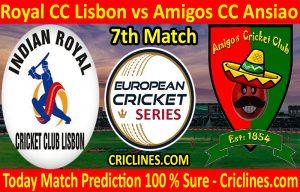 Today Match Prediction-Royal CC Lisbon vs Amigos CC Ansiao-ECS T10 Cartaxo Series-7th Match-Who Will Win