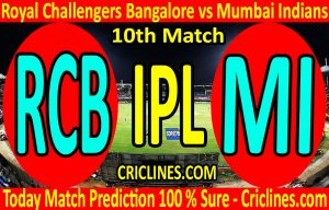 Today Match Prediction-Royal Challengers Bangalore vs Mumbai Indians-IPL T20 2020-10th Match-Who Will Win