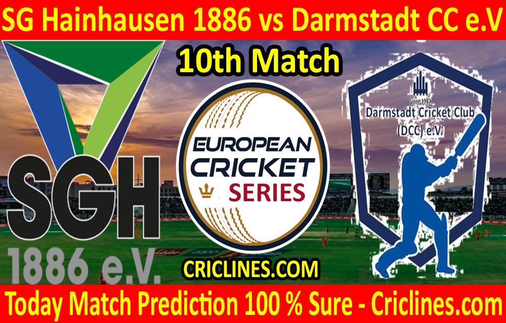 Today Match Prediction-SG Hainhausen 1886 vs Darmstadt CC e.V-ECS T10 Frankfurt Series-10th Match-Who Will Win