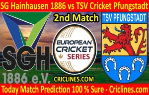 Today Match Prediction-SG Hainhausen 1886 vs TSV Cricket Pfungstadt-ECS T10 Frankfurt Series-2nd Match-Who Will Win