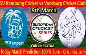 Today Match Prediction-SV Kampong Cricket vs Voorburg Cricket Club-ECS T10 Capelle Series-9th Match-Who Will Win