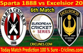 Today Match Prediction-Sparta 1888 vs Excelsior 20-ECS T10 Capelle Series-6th Match-Who Will Win