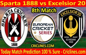 Today Match Prediction-Sparta 1888 vs Excelsior 20-ECS T10 Capelle Series-8th Match-Who Will Win