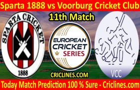 Today Match Prediction-Sparta 1888 vs Voorburg Cricket Club-ECS T10 Capelle Series-11th Match-Who Will Win