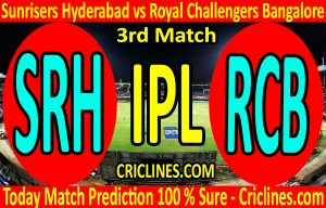Today Match Prediction-Sunrisers Hyderabad vs Royal Challengers Bangalore-IPL T20 2020-3rd Match-Who Will Win