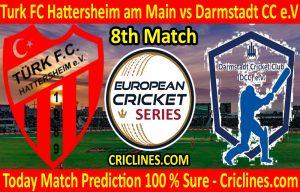 Today Match Prediction-Turk FC Hattersheim am Main vs Darmstadt CC e