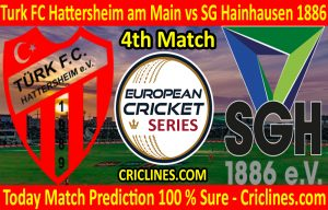 Today Match Prediction-Turk FC Hattersheim am Main vs SG Hainhausen 1886-ECS T10 Frankfurt Series-4th Match-Who Will Win