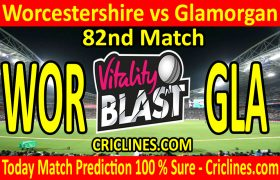 Today Match Prediction-Worcestershire vs Glamorgan-Vitality T20 Blast 2020-82nd Match-Who Will Win