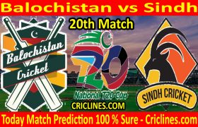 Today Match Prediction-Balochistan vs Sindh-T20 Cup 2020-20th Match-Who Will Win