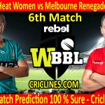 Today Match Prediction-Brisbane Heat Women vs Melbourne Renegades Women-WBBL T20 2020-6th Match-Who Will Win