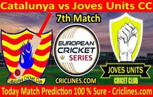 Today Match Prediction-Catalunya vs Joves Units CC-ECS T10 Barcelona Series-7th Match-Who Will Win