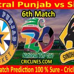 Today Match Prediction-Central Punjab vs Sindh-T20 Cup 2020-6th Match-Who Will Win