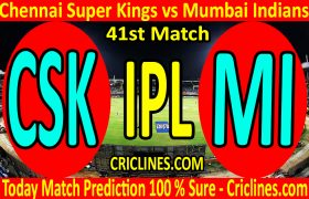Today Match Prediction-Chennai Super Kings vs Mumbai Indians-IPL T20 2020-41st Match-Who Will Win