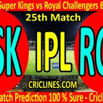 Today Match Prediction-Chennai Super Kings vs Royal Challengers Bangalore-IPL T20 2020-25th Match-Who Will Win