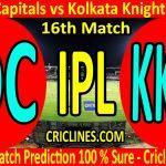 Today Match Prediction-Delhi Capitals vs Kolkata Knight Riders-IPL T20 2020-16th Match-Who Will Win