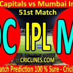 Today Match Prediction-Delhi Capitals vs Mumbai Indians-IPL T20 2020-51st Match-Who Will Win