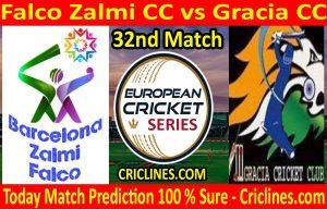 Today Match Prediction-Falco Zalmi CC vs Gracia CC-ECS T10 Barcelona Series-32nd Match-Who Will Win