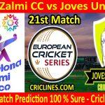 Today Match Prediction-Falco Zalmi CC vs Joves Units CC-ECS T10 Barcelona Series-21st Match-Who Will Win