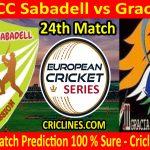 Today Match Prediction-Hira CC Sabadell vs Gracia CC-ECS T10 Barcelona Series-24th Match-Who Will Win