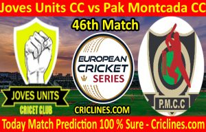 Today Match Prediction-Joves Units CC vs Pak Montcada CC-ECS T10 Barcelona Series-46th Match-Who Will Win