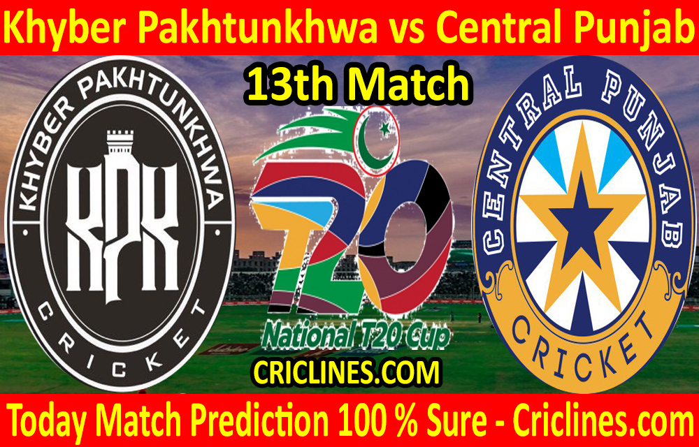 Today Match Prediction-Khyber Pakhtunkhwa vs Central Punjab-T20 Cup 2020-13th Match-Who Will Win