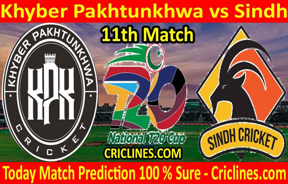 Today Match Prediction-Khyber Pakhtunkhwa vs Sindh-T20 Cup 2020-11th Match-Who Will Win