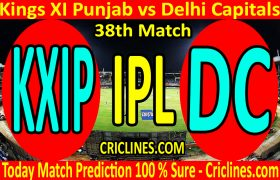 Today Match Prediction-Kings XI Punjab vs Delhi Capitals-IPL T20 2020-38th Match-Who Will Win
