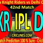 Today Match Prediction-Kolkata Knight Riders vs Delhi Capitals-IPL T20 2020-42nd Match-Who Will Win