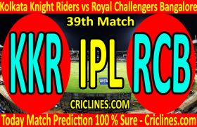 Today Match Prediction-Kolkata Knight Riders vs Royal Challengers Bangalore-IPL T20 2020-39th Match-Who Will Win