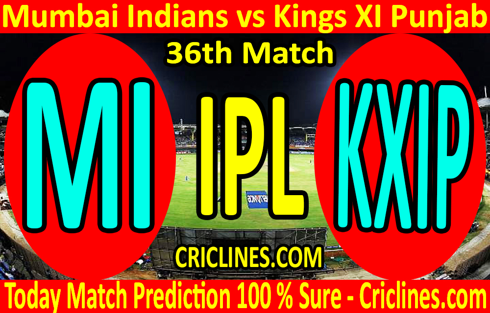Today Match Prediction-Mumbai Indians vs Kings XI Punjab-IPL T20 2020-36th Match-Who Will Win