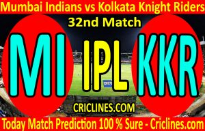 Today Match Prediction-Mumbai Indians vs Kolkata Knight Riders-IPL T20 2020-32nd Match-Who Will Win
