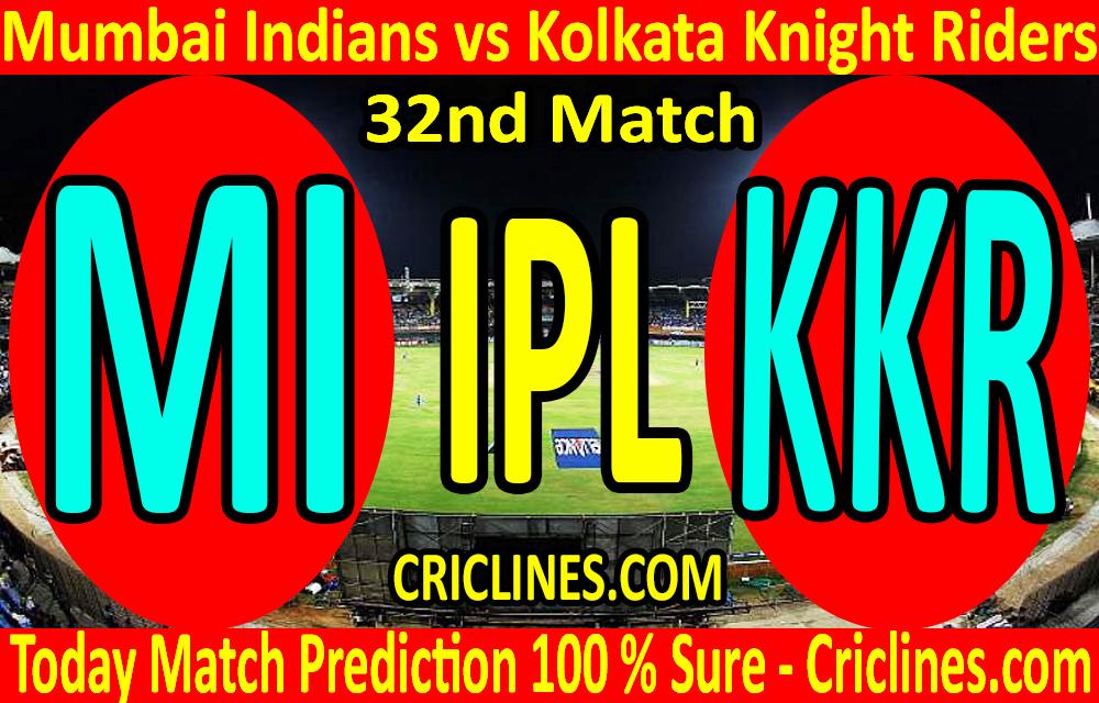 Today Match Prediction-Mumbai Indians vs Kolkata Knight Riders-IPL T20 2020-32nd Match-Who Will Win