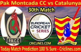 Today Match Prediction-Pak Montcada CC vs Catalunya-ECS T10 Barcelona Series-30th Match-Who Will Win