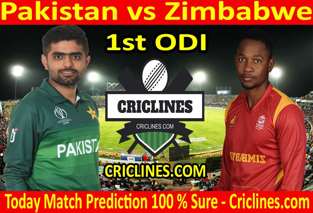 Today Match Prediction-Pakistan vs Zimbabwe-1st ODI-Who Will Win