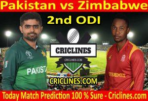 Today Match Prediction-Pakistan vs Zimbabwe-2nd ODI-Who Will Win