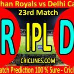 Today Match Prediction-Rajasthan Royals vs Delhi Capitals-IPL T20 2020-23rd Match-Who Will Win