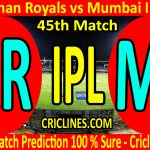 Today Match Prediction-Rajasthan Royals vs Mumbai Indians-IPL T20 2020-45th Match-Who Will Win