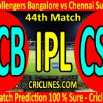 Today Match Prediction-Royal Challengers Bangalore vs Chennai Super Kings-IPL T20 2020-44th Match-Who Will Win